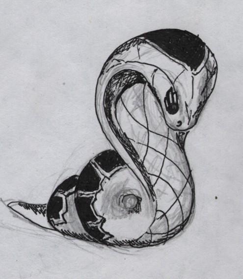 рисунок змейки